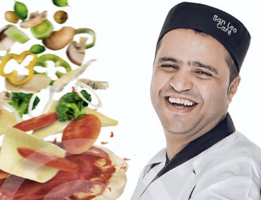 seerwan hos san leo pizza